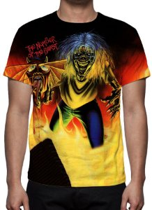 IRON MAIDEN - The Number of The Beast Modelo 2 - Camiseta de Rock