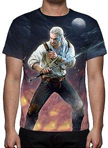 WITCHER 3, The - Heart of Stone Geralt Medalhão - Camiseta de Games