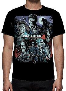 UNCHARTED 4 - A Thief´s End Preta - Camiseta de Games
