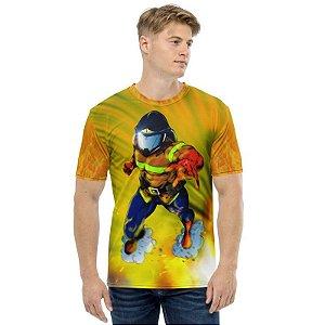 RZE - Bombeiro Mascarado Símbolo de Herói - Camiseta de Heróis Brasileiros