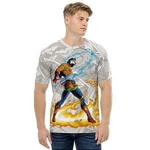 RZE - Bombeiro Mascarado Comics Por May Santos - Camiseta de Heróis Brasileiros