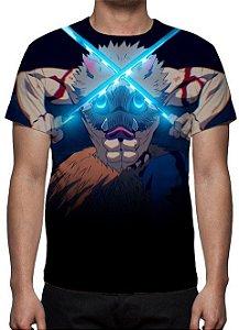 KIMETSU NO YABA -  Demon Slayer - Inosuke - Camiseta de Animes