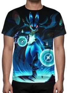 POKÉMON - Lucario Modelo 1 - Camiseta de Animes