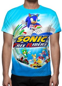 SONIC - Sonic Free Riders - Camiseta de Games