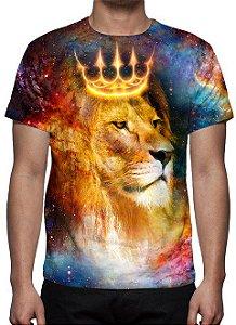 RELIGIOSOS - Leão de Judá Universo - Camisetas Variadas