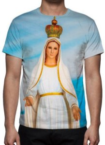 RELIGIOSOS - Nossa Senhora de Fátima Modelo 2 - Camiseta Variada