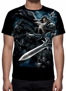 REAPER MORTE - Cavaleiro Negro - Camiseta Variada