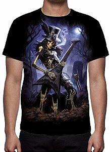 REAPER MORTE - Slash Play Guitar - Camiseta Variada
