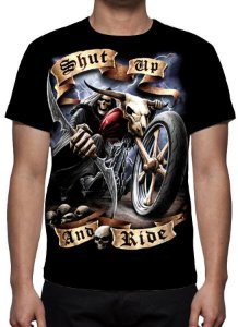 REAPER MORTE - Shut Up and Ride - Camiseta Variada