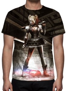 DC GAMES - Batman Arkham Knight Arlequina - Camiseta de Games