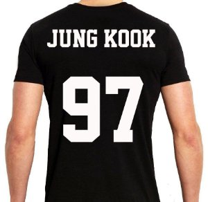 BTS Bantang Boys - Army Preta Jung Kook - Camiseta de Kpop