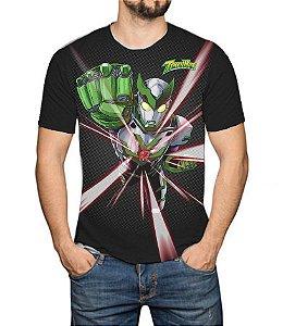 TIMERMAN - Rumo ao Futuro Preta - Camiseta de Tokusatsu