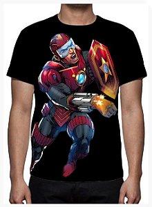 KIMERA - Capitão R.E.D Preta - Camiseta de Heróis Brasileiros