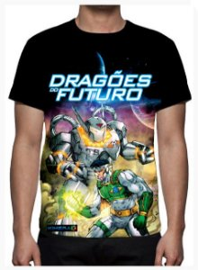 KIMERA  - Dragões do Futuro Modelo 3 -  Camiseta de Desenhos