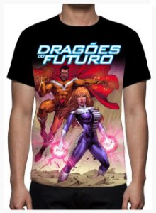 KIMERA  - Dragões do Futuro Modelo 4 -  Camiseta de Desenhos