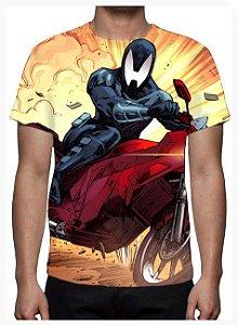 KIMERA  - Lagarto Negro Moto - Camiseta de Heróis Brasileiros