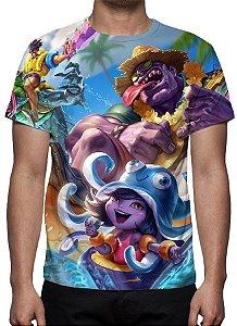 LEAGUE OF LEGENDS - Curtindo o Verão Modelo 1 - Camiseta de Games