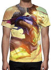 LEAGUE OF LEGENDS - Ekko Tempestade de Areia - Camiseta de Games