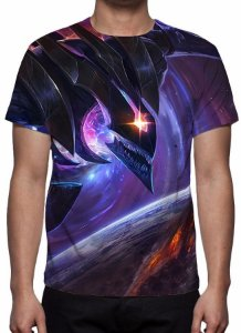 LEAGUE OF LEGENDS - Khazix Estrela Negra - Camiseta de Games