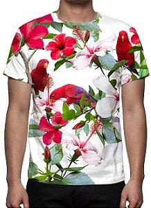 ESTAMPADAS - Floral Pássaros - Camisetas Variadas