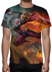 LEAGUE OF LEGENDS - Riven Espada Demoníaca - Camiseta de Games