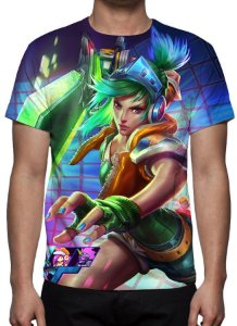 LEAGUE OF LEGENDS - Riven Fliperama - Camiseta de Games