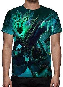 LEAGUE OF LEGENDS - Thresh Guardião das Correntes Modelo 2 - Camiseta de Games
