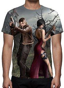 RESIDENT EVIL 4 - Leon Kennedy & Ada Wong - Camiseta de Games
