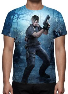RESIDENT EVIL 4 - Leon Kennedy - Camiseta de Games