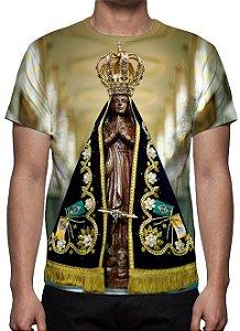 RELIGIOSOS - Nossa Senhora Aparecida Modelo 2 - Camiseta Variada