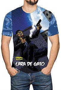 OS SE7E - Cara de Gato - Camiseta de Heróis Brasileiros