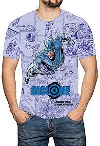 OS SE7E - Ciclone - Camiseta de Heróis Brasileiros