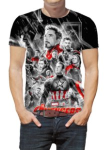 MARVEL - Vingadores Ultimato Preta - Camiseta de Cinema