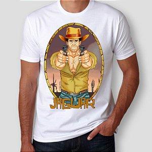 JAGUAR PISTOLEIRO - Pistolas Branca - Camiseta de Heróis Brasileiros