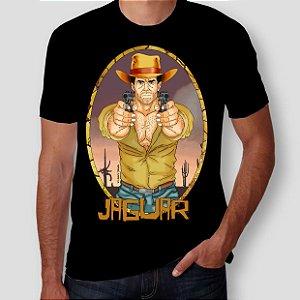 JAGUAR PISTOLEIRO - Pistolas Preta - Camiseta de Heróis Brasileiros