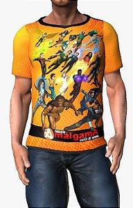 CADU ARTES - Fundação Amálgama - Camiseta de Heróis Brasileiros