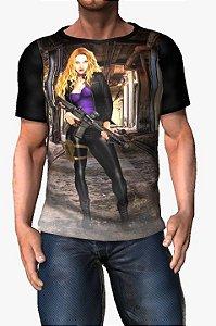 MULTIPLO - Adriana Agente Laranja Armada e Perigosa - Camisetas de heróis Brasileiros