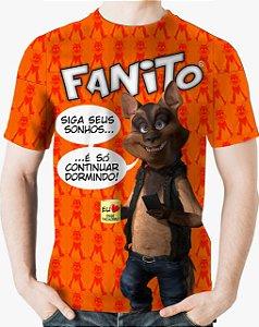 CADU ARTES - Fanito Siga Seus Sonhos Laranja - Camiseta de You Tubers