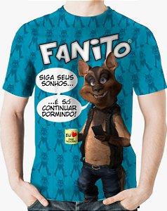 CADU ARTES - Fanito Siga Seus Sonhos Azul - Camiseta de You Tubers