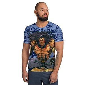 CHS STUDIO - Lobo Guará Comic Azul - Camisetas de heróis Brasileiros