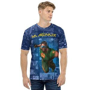 CADU ARTES - Fundação Amálgama Magnus - Camiseta de Heróis Brasileiros