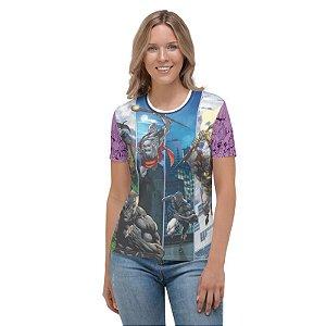 INVICTOS - Pétreo, o Indestrutível Roxa - Camisetas de Heróis Brasileiros