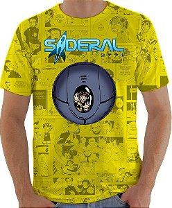 ARMON - Sideral Capsula de Sobrevivência Amarela - Camiseta de Mangás Brasileiros