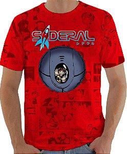 ARMON - Sideral Capsula de Sobrevivência Vermelha - Camiseta de Mangás Brasileiros