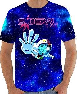 ARMON - Sideral Yuri Astronauta Galáxia - Camiseta de Mangás Brasileiros