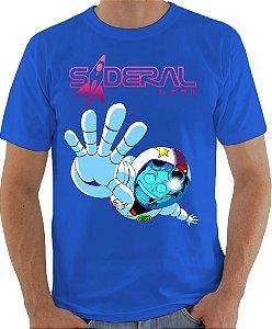 ARMON - Sideral Yuri Astronauta Azul Lisa - Camiseta de Mangás Brasileiros