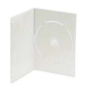 Capa / Caixinha / Estojo Dvd Box Slim Transparente 100 Uni.
