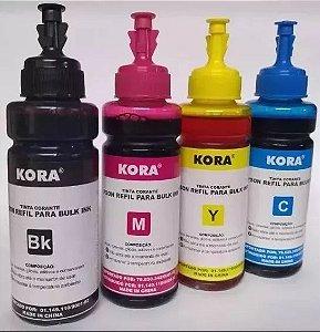 Kit Refil Tinta Epson L200 L210 L355 L555-4 Cores