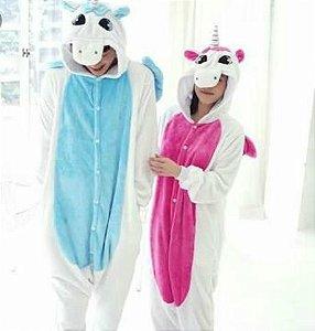 Lindo e Exclusivo Pijama Unicórnio Alado em Flanela