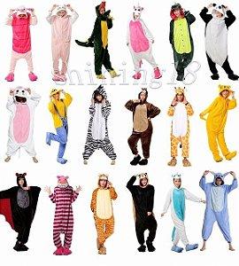 Super Fofos Pijamas Onesies Kigurumis - Modelos Variados - Em Algodão e Poliéster